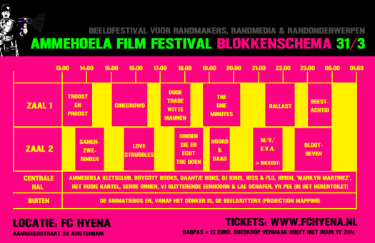 Blokkenschema Ammehoela Film Festival 2018